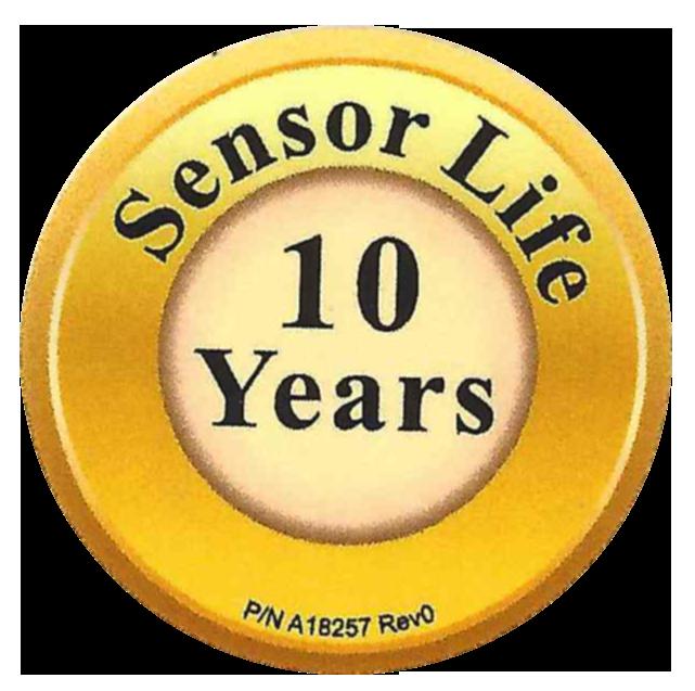 10 letna življenska doba senzorja CO!